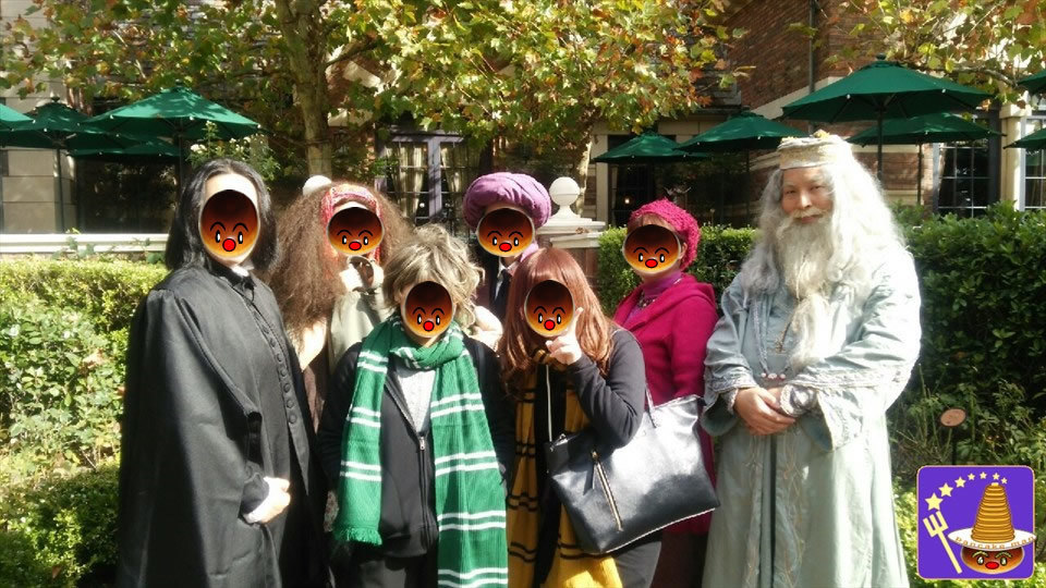 ホグワーツ教授陣が勢ぞろい!ちびっこハリー&ハーマイオニー ダブル ダンブルドアで仮装♪(USJハリポタ)魔法使いパンケーキマン