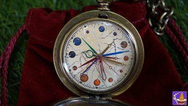 アルバス ダンブルドアの金時計(懐中時計)は数字が無く、惑星に針が12本! (FOSSIL製)限定2500個