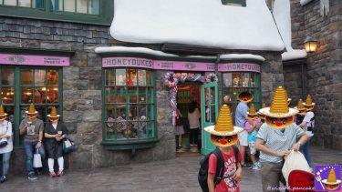 お店紹介:ハニーデュークス&マジックニープカート ハリーポッター魔法界のお菓子が沢山♪カエルチョコ、百味ビーンズ、かぼちゃジュースetcまとめ(USJホズミード村)