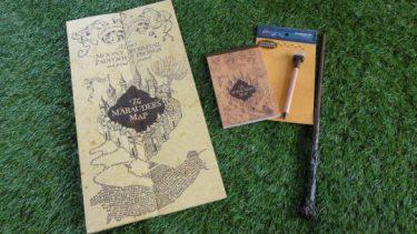 忍びの地図 レプリカ(フィルチの没収品店で購入)とメモ&スタンプ USJハリポタ