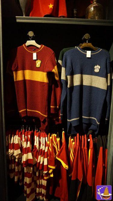 クィディッチ選手になろう♪セーター(グリフィンドール、スリザリン、ハッフルパフ、レイブンクロー)発売USJ