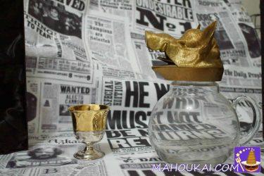 ハリポタグッズ:金色ゴブレット(本物でも非PROP)ホグワーツ大広間や談話室の飲み物用カップ