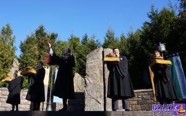 フロクアが♪ホリデー・フロッグクワイア(ホグワーツ合唱隊)のクリスマス ソングを堪能しよう♪(USJホグズミード村ショー ステージ)