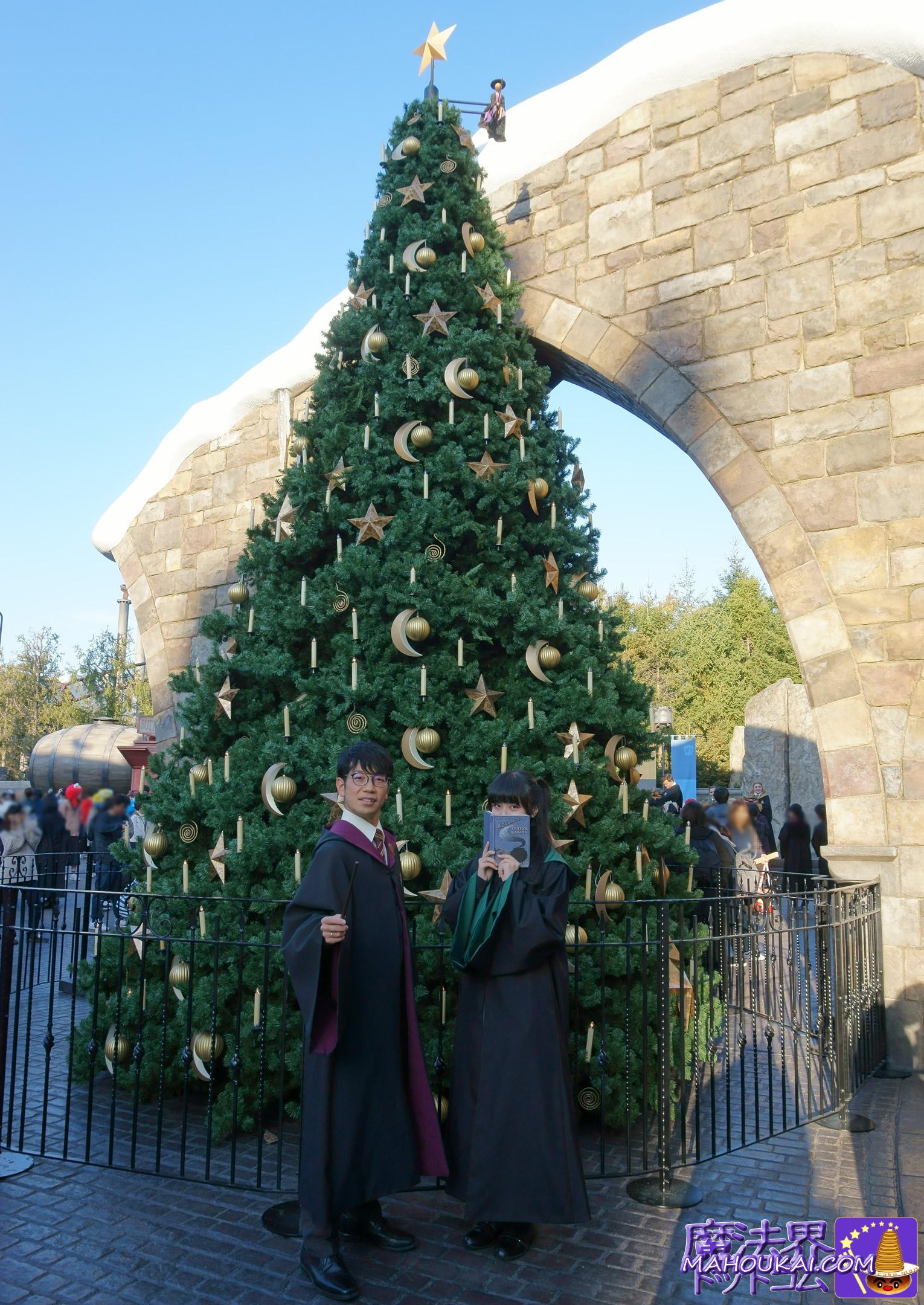 魔法界のクリスマスツリー(USJハリーポッターエリア)