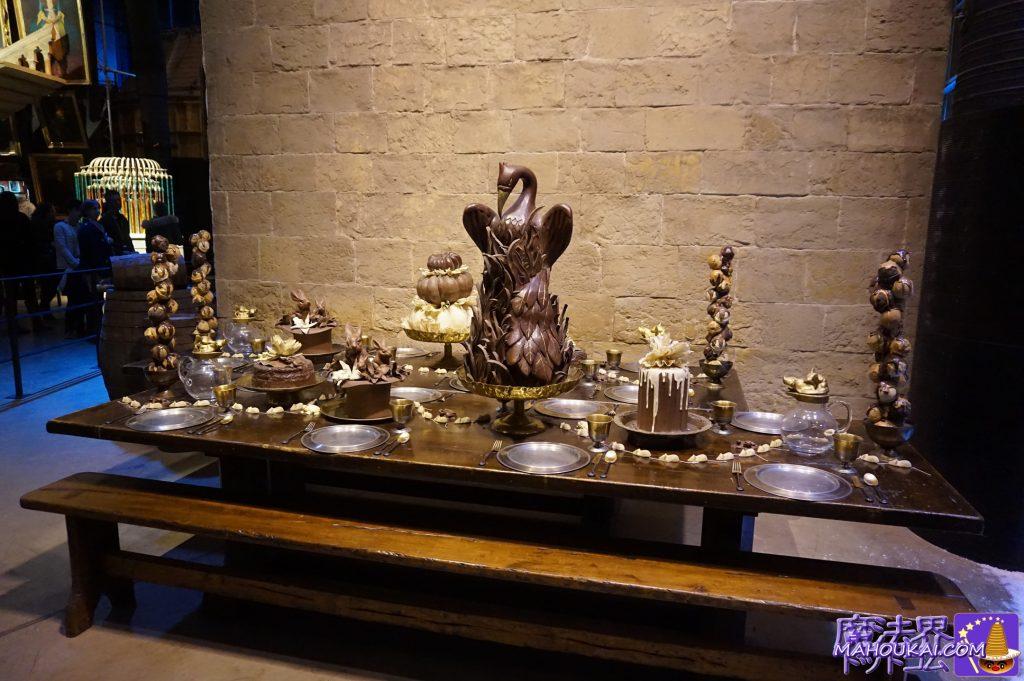 チョコレートフィーストなるホグワーツのお菓子PROP(映画の小道具) ワーナーブラザース ハリーポッタースタジオツアー(イギリス/ロンドン)