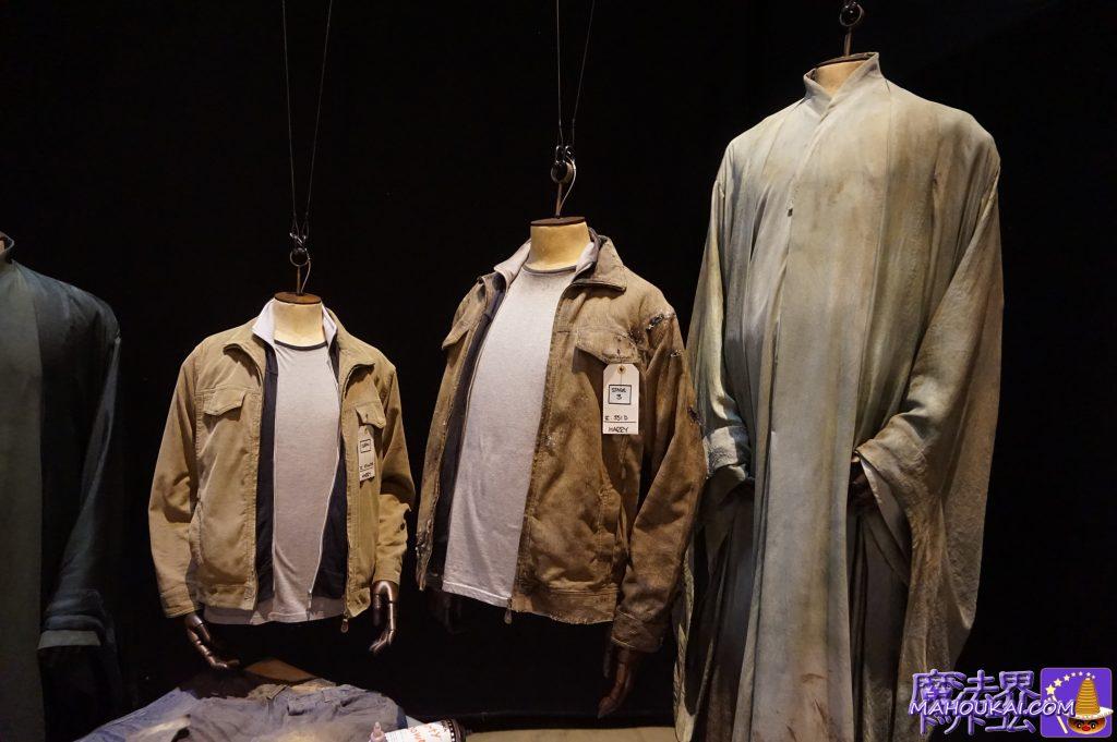 闇の帝王ヴォルデモート卿の衣装と、ハリーの私服の衣装 ワーナーブラザース ハリーポッタースタジオツアー(イギリス/ロンドン)