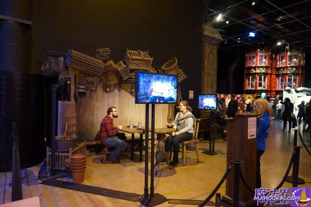 撮影スポット:巨人とヒトのサイズ比で撮影 ワーナーブラザース ハリーポッタースタジオツアー(イギリス/ロンドン)