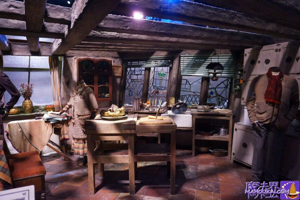 ウィーズリー家の隠れ穴のセット(ロンの家)ワーナーブラザース ハリーポッタースタジオツアー(イギリス/ロンドン)
