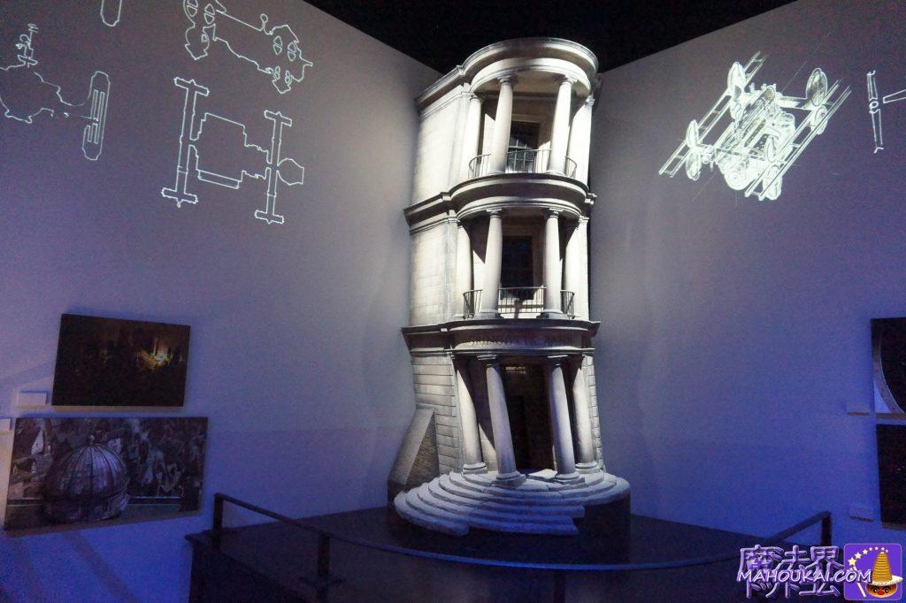 ホワイト模型:グリンゴッツ銀行の入口外観 ワーナーブラザーススタジオツアー メイキング・オブ・ハリーポッター(英国/ロンドン)