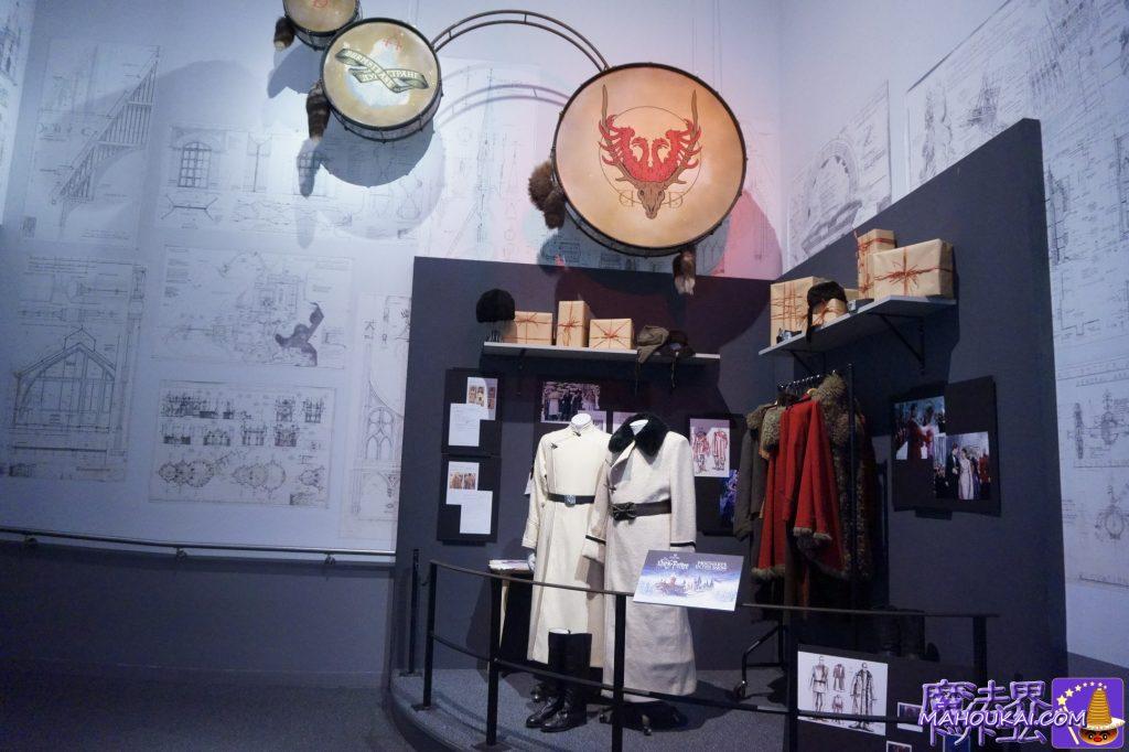 ダームストラング校の制服コートとカルカロフ校長の衣装 ワーナーブラザーススタジオツアー メイキング・オブ・ハリーポッター(イギリス/ロンドン)
