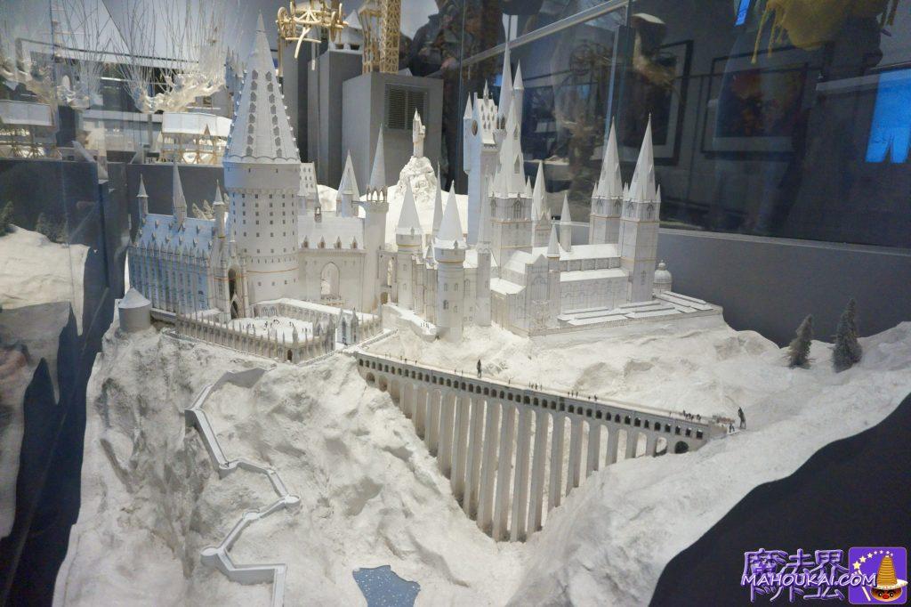 ホグワーツ城のミニチュアモデル(ホワイトモデル) ワーナーブラザーススタジオツアー メイキング・オブ・ハリーポッター(イギリス/ロンドン)