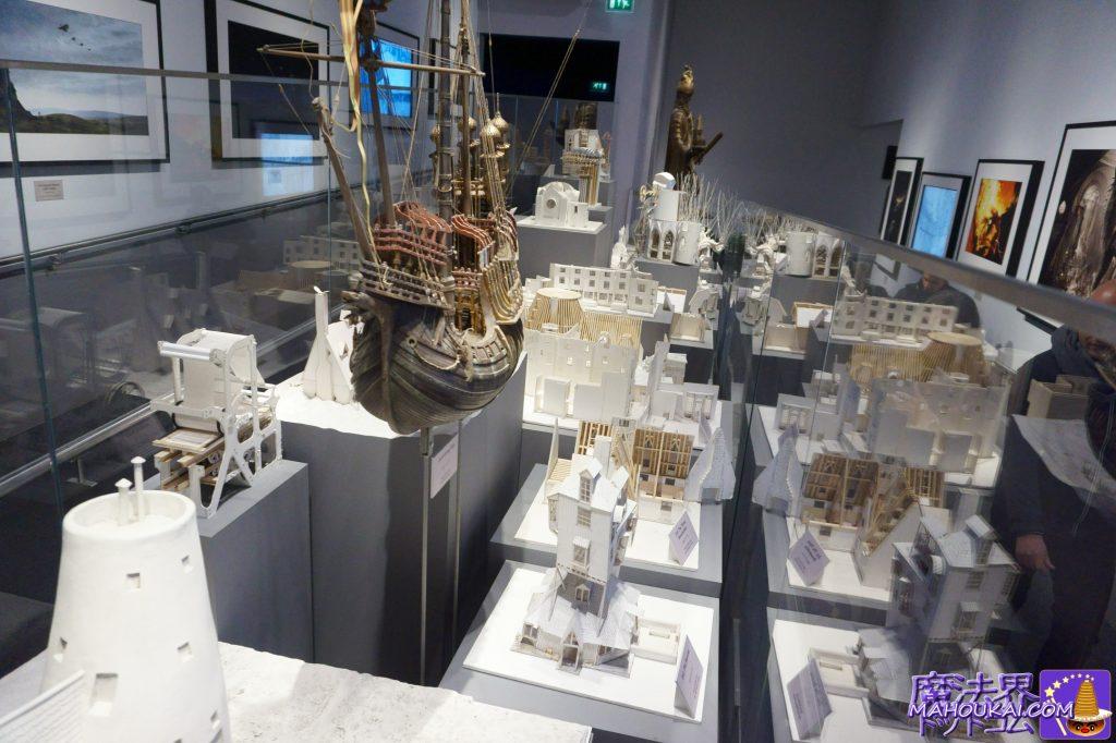 隠れ穴、ルーナの家、ダームストラングの帆船などのミニチュアモデル ワーナーブラザーススタジオツアー メイキング・オブ・ハリーポッター(イギリス/ロンドン)