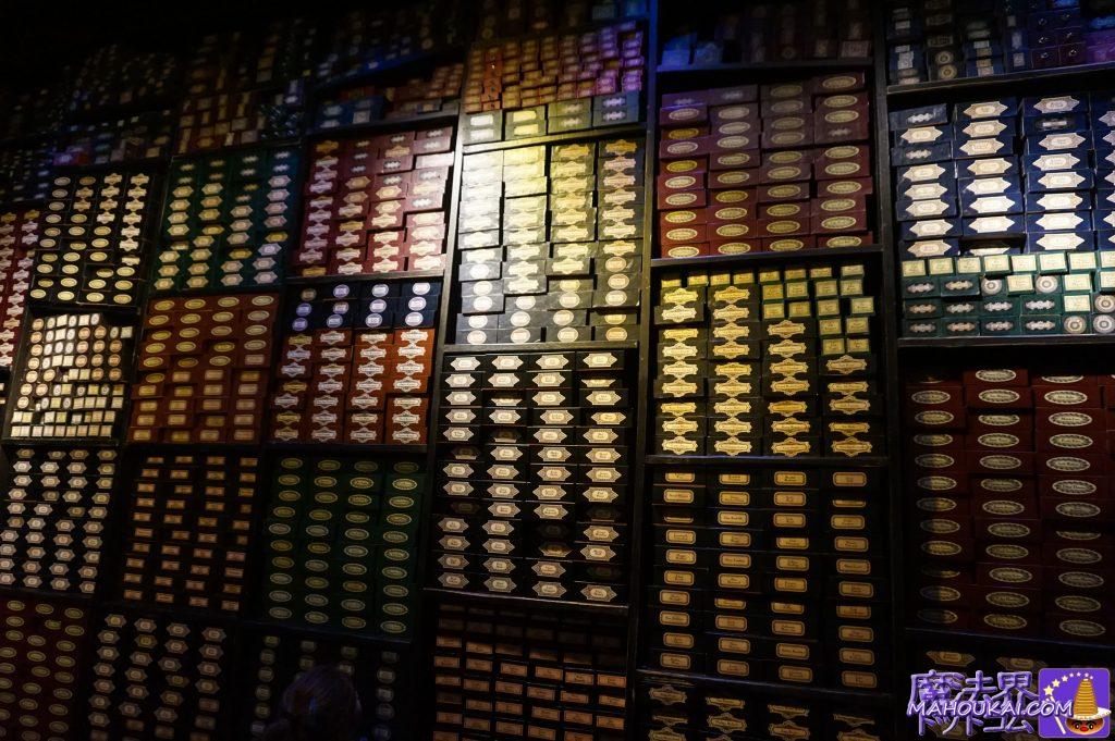 魔法使いの杖の部屋(オリバンダーの倉庫?) ハリポタスタジオ ワーナーブラザーススタジオツアー メイキング・オブ・ハリーポッター(イギリス/ロンドン)