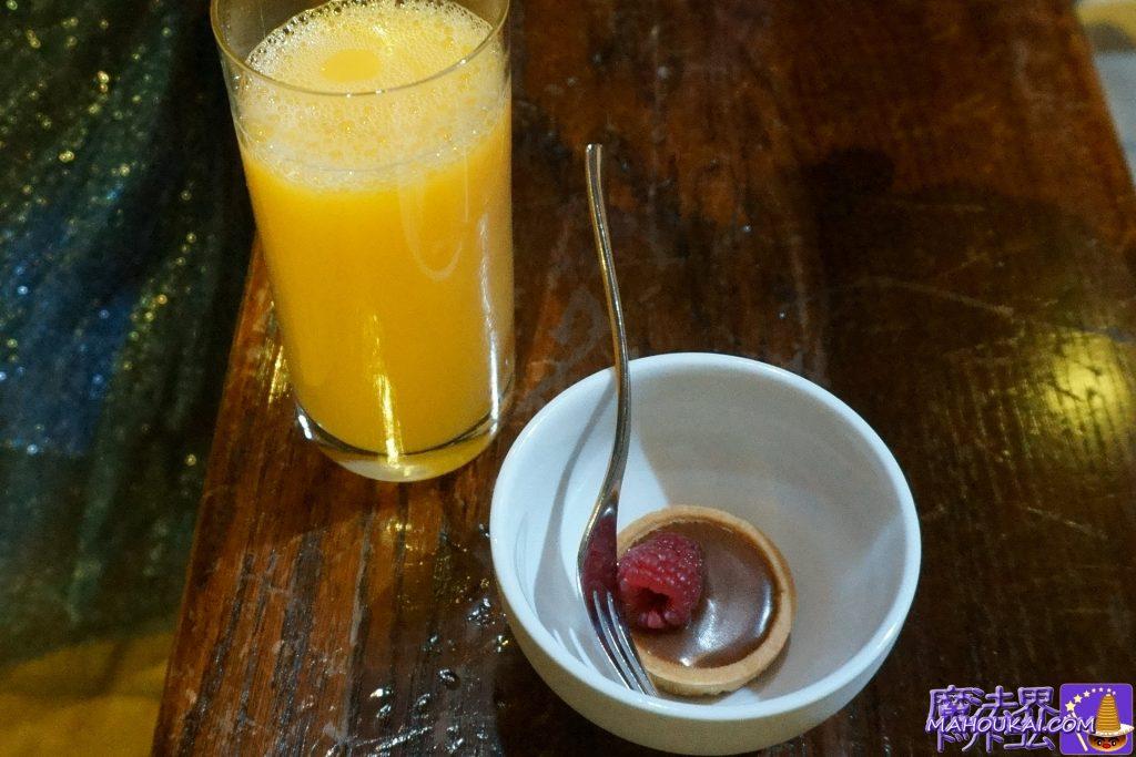 オレンジジュースとミニプリン(キングスクロス駅セット)