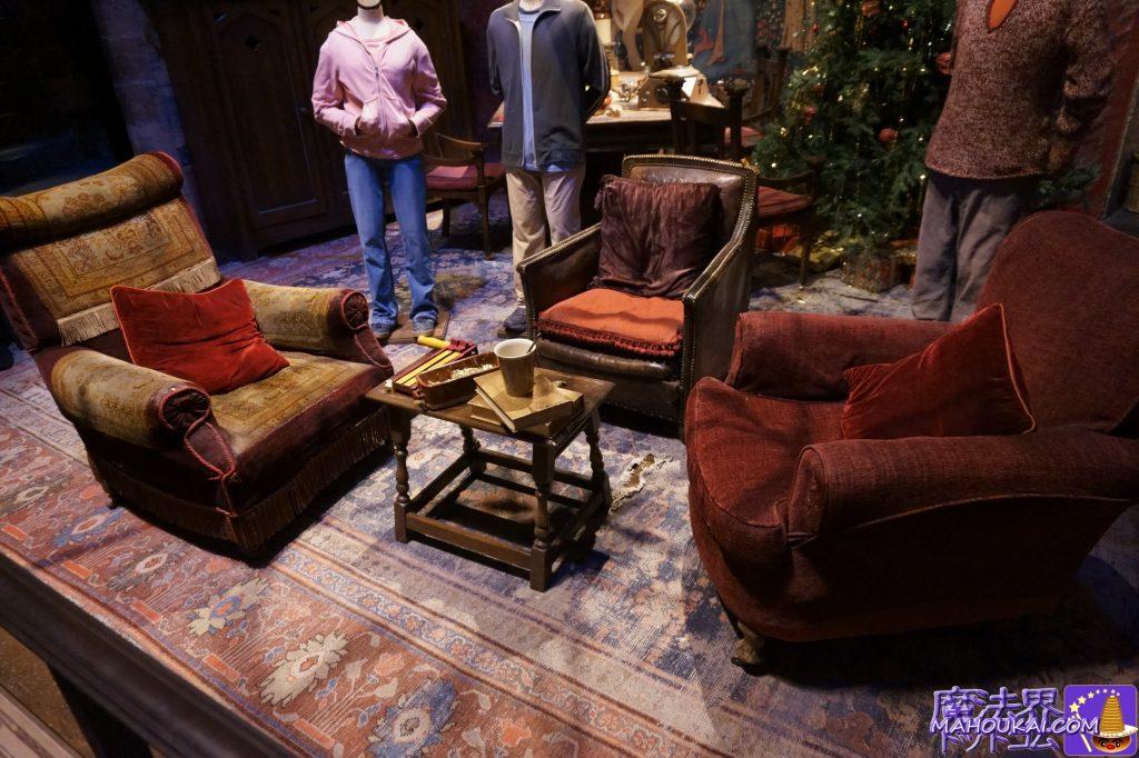 グリフィンドールの談話室(GRYFFINDOR COMMON ROOM)の素敵なソファ