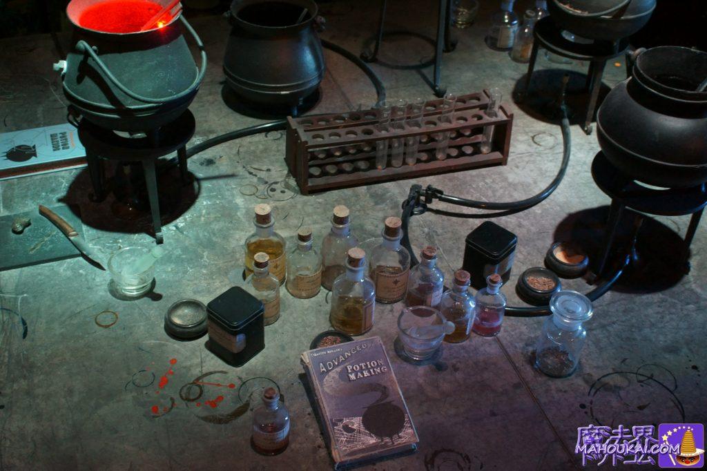 机の上には魔法薬や新旧の教科書♪これは!もしや!ハリーの使用してた教科書では!?