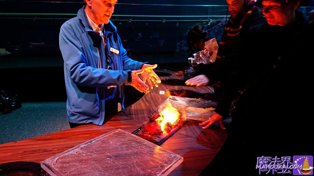 映画の炎の製作実演 ハリーポッタースタジオツアー ワーナーブラザーススタジオツアー メイキング・オブ・ハリーポッター(イギリス/ロンドン)