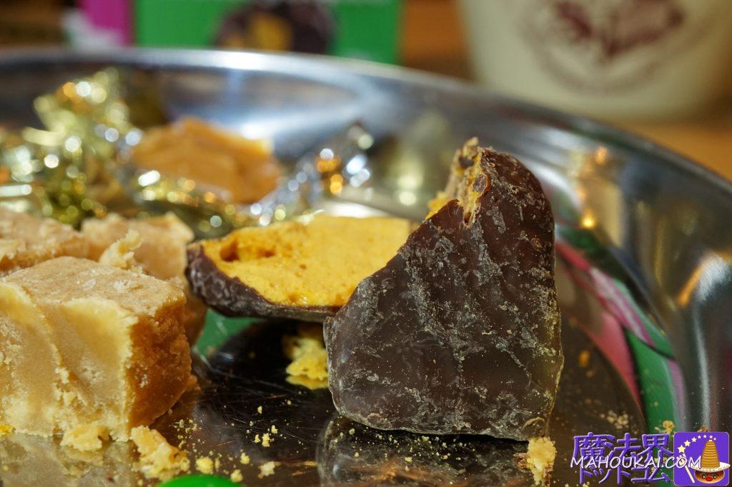 ダークチョコで包んだ海塩のハニーコムを食べてみて