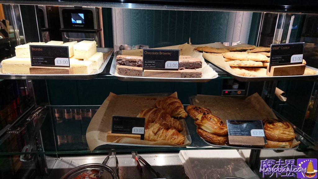 ハブカフェのスイーツと焼き菓子の写真(ハリーポッタースタジオツアー)