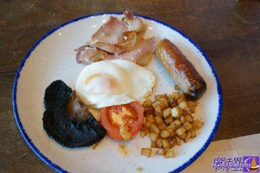 ハリーポッタースタジオツアー1日目の食事(朝食、昼食、スイーツ)♪美味しいイングリッシュ ブレックファストやバタービールにホットドッグ(イギリス/ロンドン)