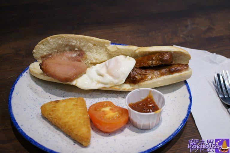 食べた物:ブレックファースト バゲット(Full Breakfast Baguette)