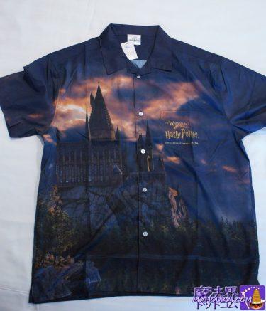 ホグワーツ城デザイン オープンシャツ