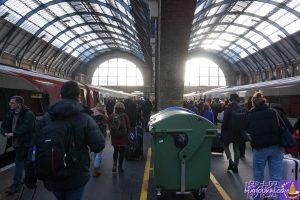 通勤時間帯の混雑 キングスクロス駅