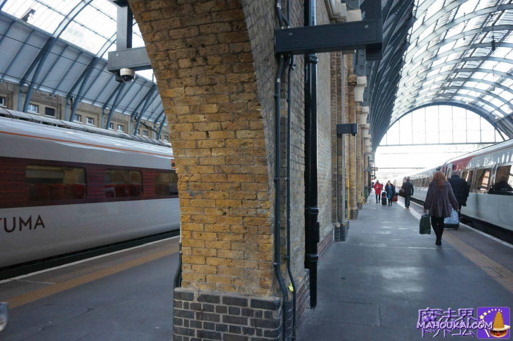 プラットフォーム9 3/4番線の映画撮影の壁 ロンドン キングクロス駅