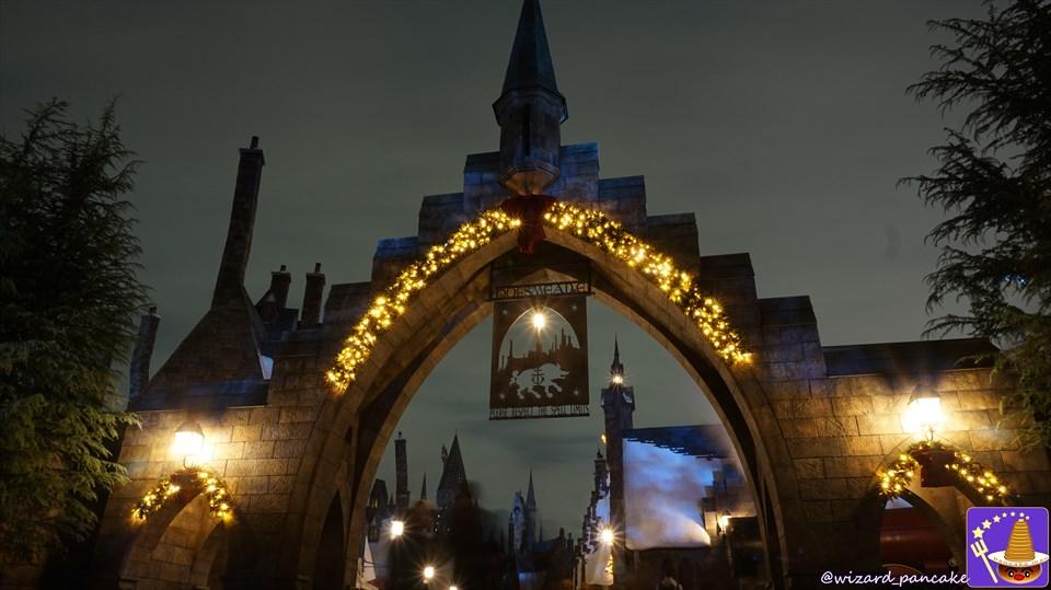 2.ホグズミード村のクリスマス装飾&イルミネーションを楽しもう♪2016年ハリポタエリアの初クリスマス♪魔法使いパンケーキマン ダンブルドア