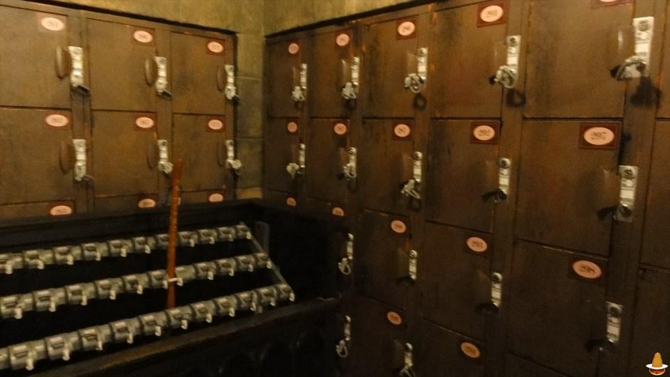 ハリー・ポッター・アンド・ザ・フォービドゥン・ジャーニーのロッカーに(USJハリポタ) 魔法使いパンケーキマン