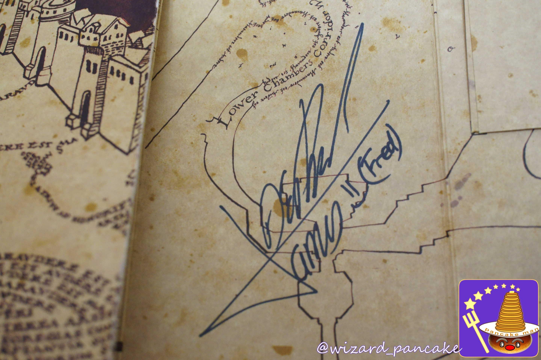 フェルプス兄弟(フレッド&ジョージ)のサインと忍びの地図