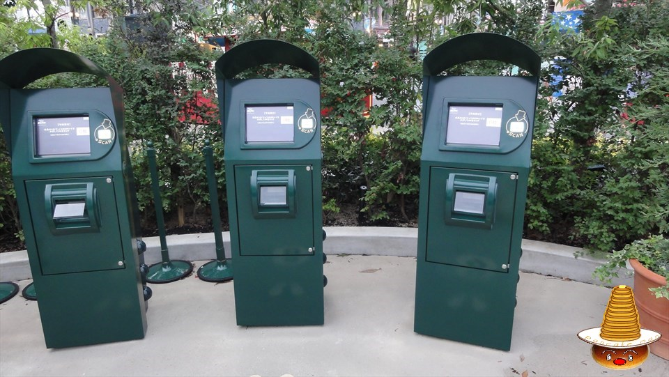 整理券の発券場所とエクスプレスパスの入場口(USJハリポタ) 魔法使いパンケーキマン