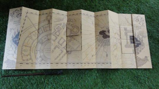 忍びの地図(レプリカ)、忍びの地図風メモ&ボールペン(USJハリポタ)魔法使いパンケーキマン