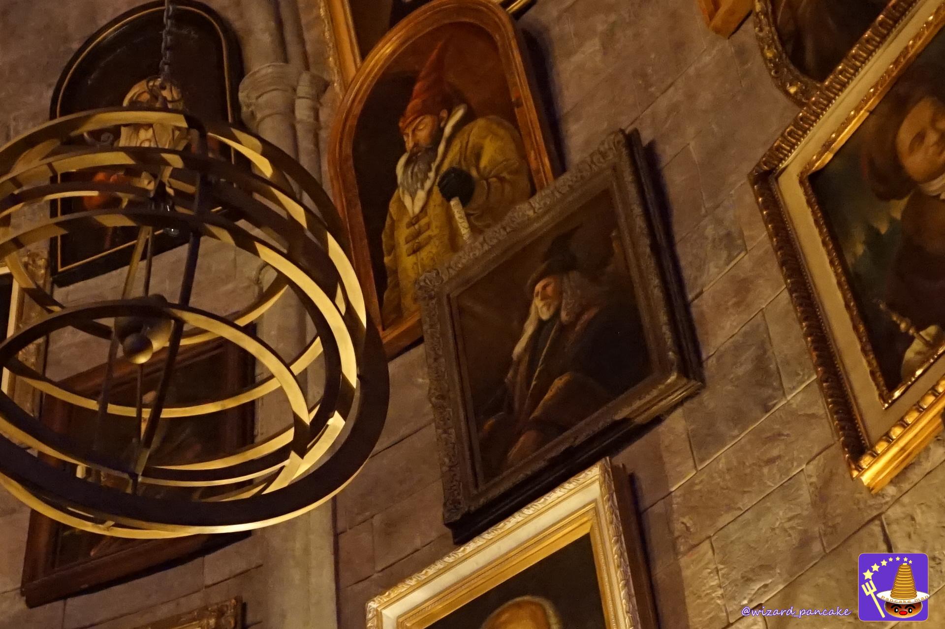 トム・リドル時代の校長はアーマンド・ディペット先生じゃ♪ダンブルドア校長室の肖像画に!ホグワーツ キャッスル ウォーク(USJ魔法界)パンケーキマン・ダンブルドア