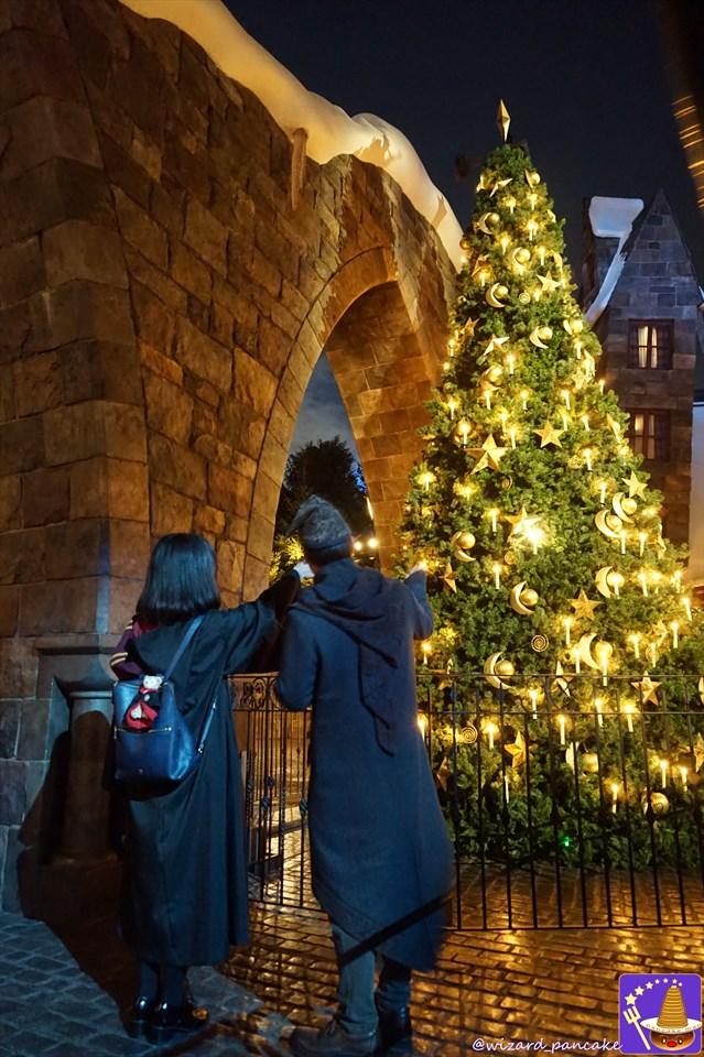 2017年USJハリーポッターの世界 冬&クリスマス♪『ホグワーツ マジカル ナイト~ウインターマジック』ナイトショーが魔法界に新登場♪楽しみ方メニュー 魔法使いパンケーキマン