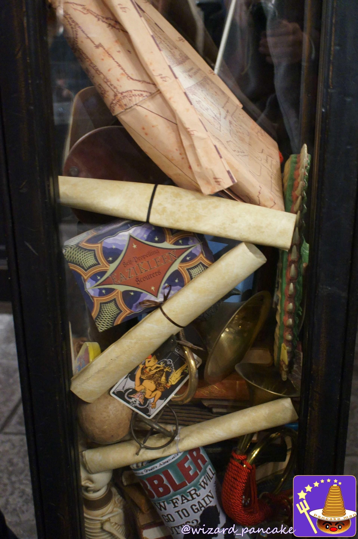 ホグワーツの生徒から没収された品々(フィルチの没収品店)USJハリポタエリア