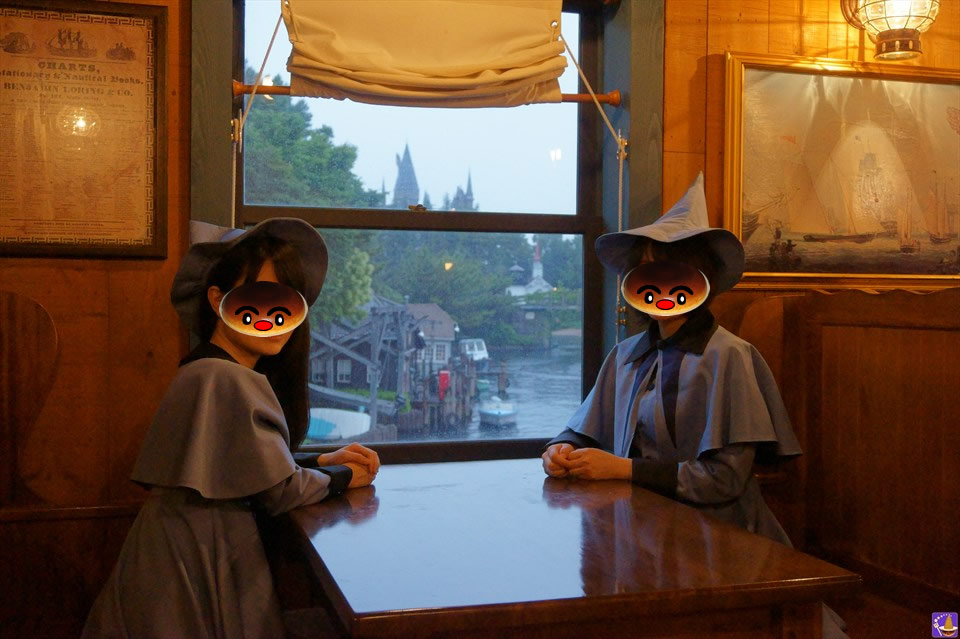 ボーバトン魔法アカデミーの生徒がホグワーツ特急の車窓からホグワーツ!?魔女仮装でUSJ魔法界へ♪魔法使いパンケーキマン・ダンブルドア