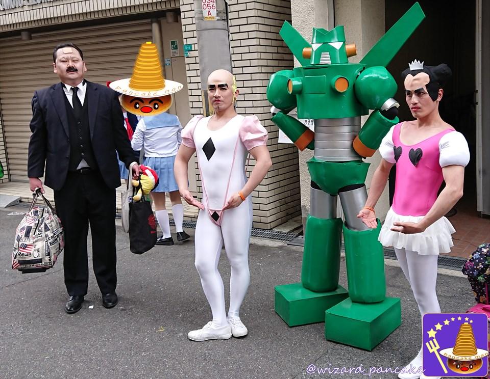 ストフェス2018 ハリーポッター&ジブリのラピュタ一族など素敵でワクワクドキドキなコスプレが沢山居たのじゃ♪(大阪/日本橋ストリートフェスタ)魔法使いパンケーキマン・ダンブルドア