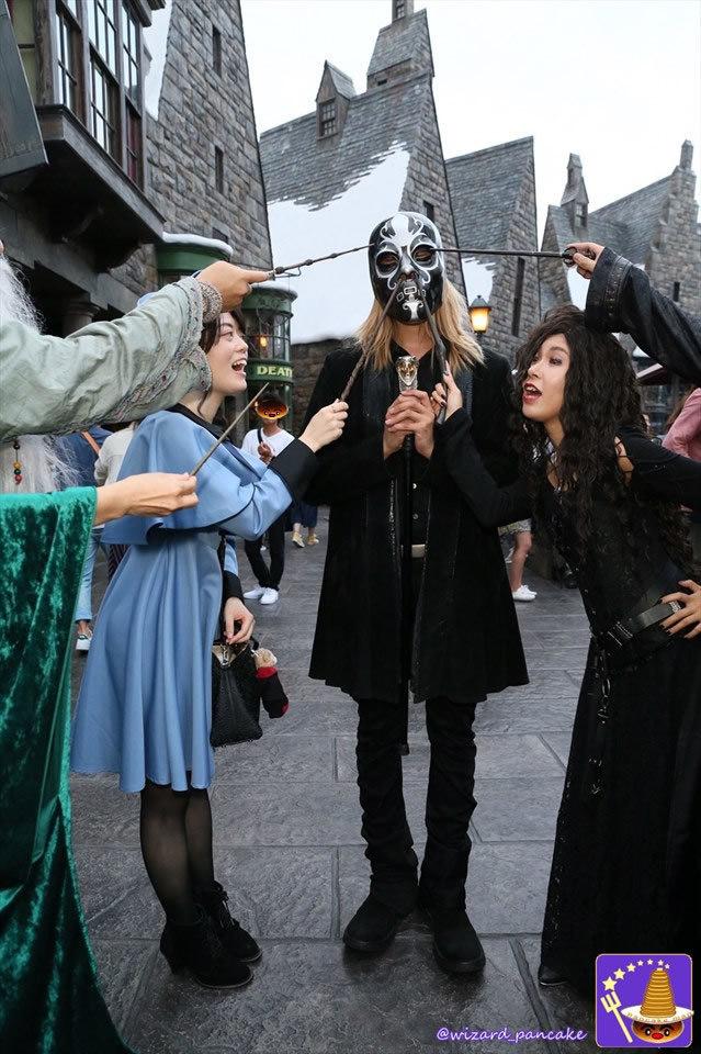 2016年ハリポタ仮装9/17レポート ルシウス マルフォイのデスイーターのマスクで初登場♪魔法使いパンケーキマン ダンブルドア