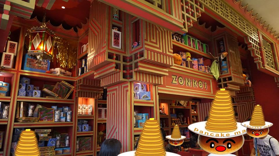 ゾンコとハニーデュークスが改装!魔女鍋スポンジケーキetc新製品も登場♪(USJハリポタ)魔法使いパンケーキマン