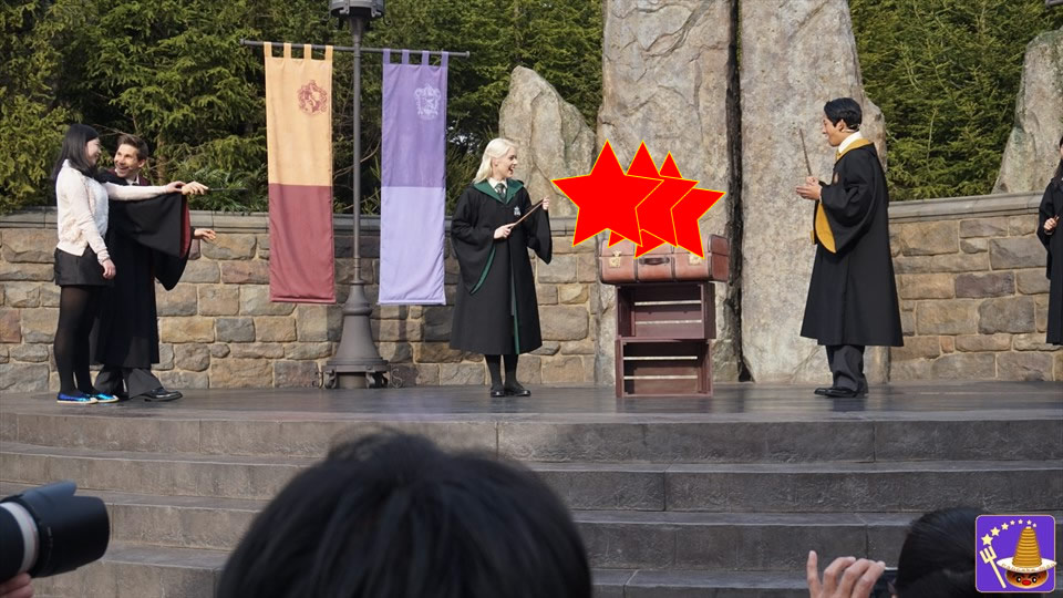 11.ワンド・スタディ 魔法界に新たなショーが誕生!魔法の練習をするホグワーツ生!(USJハリポタ)魔法使いパンケーキマン ダンブルドア