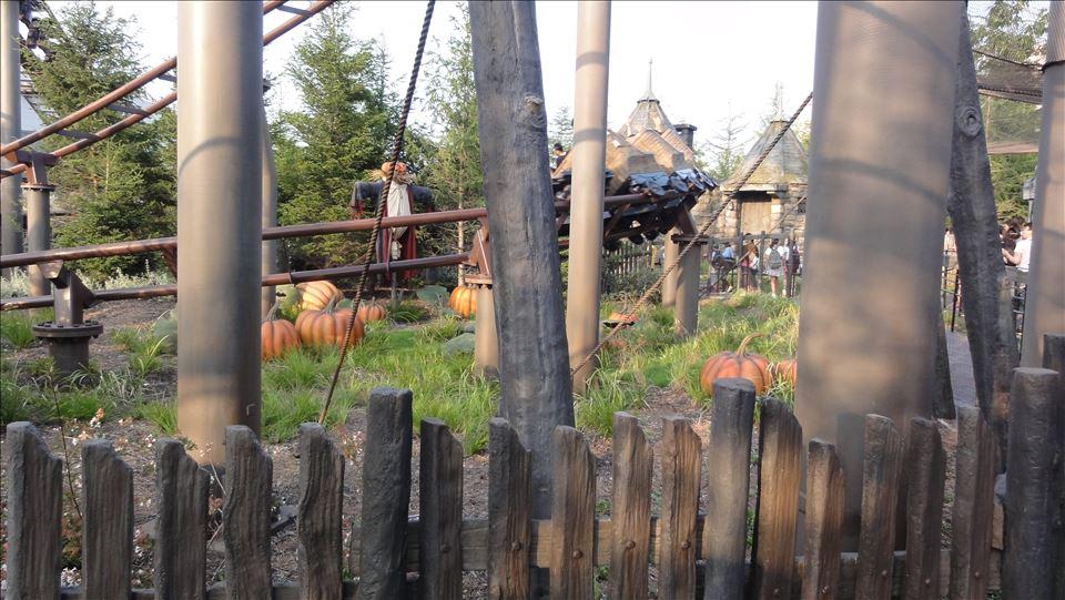 ハグリッドの小屋とかぼちゃ畑(USJ)